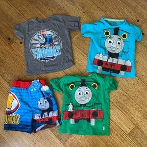 Lot of 2T Thomas Gear: 3 GC Shirt +NWT Swim Trunks